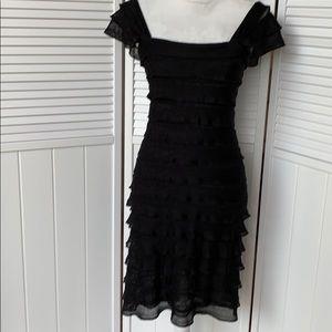 Max studio black ruffle dress size small